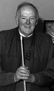 The late Seán WH O'Connor pictured before a Snooker match at the Pitch and Putt and Snooker Club in May 1995. ©Photograph: John Reidy 12-5-1995