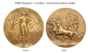 1908 London Olympics Commemorative Medal.