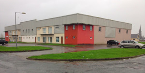 The NEKD building at The Crageens .