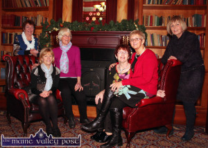 Members of the not yet one-year-old Mná le Chéile group pictured before their recent Christmas lunch at the River Island Hotel in Castleisland. Included are from left: Doreen Brosnan, Marie Walsh, Joan Brosnan, Kathleen O'Sullivan, Jean Horgan and Gina McElligott. ©Photograph: john Reidy