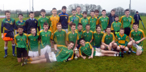 St. Patrick's Boys' Secondary School Gaelic Football team which captured the Munster Colleges U-15 title and the Corn Éamainn Uí Mháirtín when they defeated St John The Baptist Community School, Hospital, Co. Limerick in Rathkeale on Wednesday. Front from left: David Shanahan and Eddie Horan. Middle row from left:  Jack Brosnan-Reidy, Danny Hickey, Adam Fallon, Stephen Murphy, Shay Walsh, captain; Michael Prendiville, Darren Maunsell, Ethan Reidy, Adam Manley, Donncha Daly and Sean Horan. Back from left: Egan Brosnan, Daniel Kelly, Padraig O'Connor, Lorcan Hickey, Cathal O'Donoghue, Dylan O'Donoghue, Conor Mitchell, Moss O'Callaghan, Padraig Browne, Dylan Browne, Denis O'Mahony, Darragh O'Connor, Aaron O'Connor and Sean Brosnan.