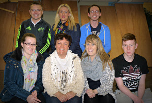 Athea Drama Group members busily rehearsing for their upcoming production of It's the Real McCoy are: Hannah Finnegan, Angeline O Donnell, Edwina Sheehan and Lorcan Mc Auliffe Back. Michael O Connor, Louise Ahern and Damien Ahern.