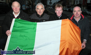 The Parades Commission: Members of the St. Patrick's Day Parade Committee are mustering the troops for the fast approaching day of celebration. Included are from left: John Skevena O'Sullivan, Charlie Farrelly, Ted Kenny and John Lynch. ©Photograph: John Reidy
