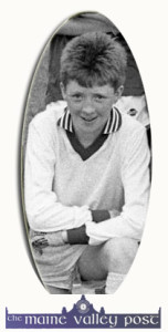 Wounded prison officer, Danny Buckley pictured in his Scartaglin U-14 goalkeeping days. ©Photograph: John Reidy