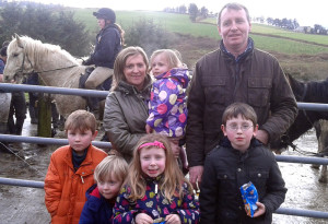 Members of the Hickey family from Knocknagoshel were in Scartaglin for the hunt on Sunday.