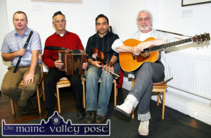 Waiting room for Scart:  Appearing in the Handed Down series on Saturday night will be from left: Mike Rice, Abbeydorney; Thomas Costello, Ballyduff; Seán Aybeta, Inishbofin and Kilflynn and Paul de Grae, The Spa. ©Photograph: John Reidy