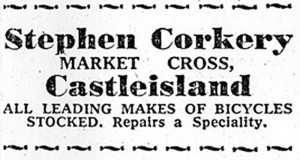 Known with great affection as 'Steveen' his little bicycle repair workshop at The Back-of-the-Forge was another example of the industry of the road.