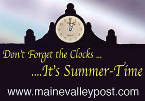 The clocks are going forward to tonight/ morning.