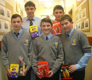 Table quiz winners in the third year CSPE fundraising drive at St. Patrick's.   From left: Neil Dennehy, Dónal Geaney, Daniel Kelly, Aaron Fleming and Redmond Horan.