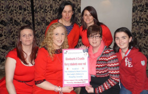 The Glowheart4Crumlin fundraisers: Front from left: Front l-r: Sharon Brosnan, Gillian O'Donoghue, Sinead Malone- Walker and Sinead O'Connor. Bark: Sonya Doyle (left) and Jenny Pye. Photograph Courtesy of Committee.