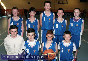 The Firies Flyers team which played in the sixth annual Good Friday KDYS / Garda Basketball Blitz at Castleisland Community Centre. Included are front from left: Shane Callaghan, coach; Liam Moloney, Dylan Callaghan and Jason Brennan. Back from left: Chloe O'Connor, Conor Henderson, Darragh Brosnan, Cian Ring and Bríd Flynn. ©Photograph: John Reidy
