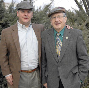 The third annual St. Patrick's Parade will be bigger than previous editions promised organizer John O'Leary (left) tomorrow's parade Grand Marshal, Annapolis resident and Currans native, John Patrick Barry. Mr. Barry is an Irish immigrant and former U.S. Army serviceman, trolley car driver, firefighter, pub owner and founder of the long-running St. Patrick's parades in Gaithersburg and Washington, D.C. Photograph: Wendi Winters. January 21, 2015.