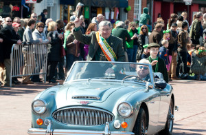 The proud Kerryman saluting the crowds in his adopted Annoplis during Sunday's St. Patrick's Festival Parade.