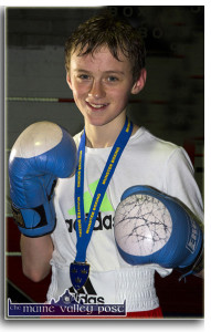 Sliabh Luachra Boxing Club member, Barry O'Connor from Killorglin who won an All-Ireland title at the weekend. ©Photograph: John Reidy