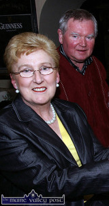 The late Dan Murphy and his wife Maureen pictured at a launch of Abbeyfeale's Fleadh by the Feale in 2009. They couple were honoured for their contributions to Irish music and culture in both Kerry and Limerick.  ©Photograph: John Reidy 8-4-2009