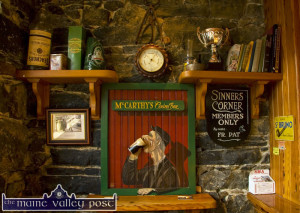 From whence they came. The Sinners' Corner in Tom McCarthy's Central Bar. ©Photograph: John Reidy