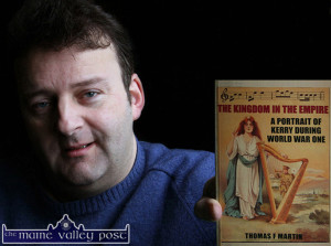 Castleisland author and historian, Tommy Martin with his book The Kingdom in the Empire. ©Photograph:  John Reidy
