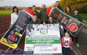 It's all set: Preparing for Sunday's fourth annual 'An Rioch AC / Lee Strand Kingdom Come 10 Mile Classic and 5K Race / Walk' at the recent launch were, front: James O'Leary, Liz Broderick, and Clodagh O'Connor, An Riocht AC. Back from left: Teresa Walker, marketing manager, Lee Strand; Eileen O'Connor, Kevin Griffin, Maurice O'Connor An Riocht AC; Kate McSweeney, manager An Riocht AC and in Castleisland on Thursday evening. ©Photograph: John Reidy