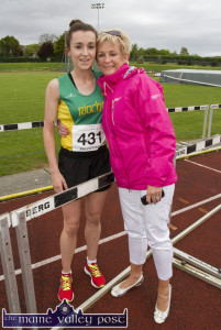 International and An Riocht AC athlete, Shona Heaslip took on an ambassadorial role for the club while in France at the weekend. Shona is pictured here with her mom, Liz at An Riocht. ©Photograph: John Reidy