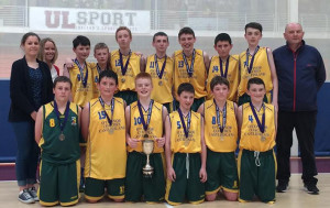 All Ireland Champions - First Year Boys from St. Patrick's Secondary School Castleisland. Front from left: David Dillon,  Aaron Fleming, Garry O'Sullivan, Aaron O'Connor, Darren O'Donovan, Daniel Kelly. Back row: Katie O'Connor, Joanne Casey, teachers;  Eoin Culloty, Conor Casey, Jonathan Healy, Tadhg O'Shea, Donal Geaney, Padraig Fleming, Keith Deniel and Denny Porter, coach. Photograph: Courtesy of St. Patrick's