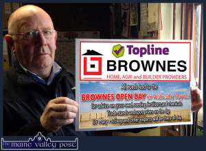 Browne's Home, Agri and Builder Providers manager, John Daly looking forward to their big 'Open Day' on Wednesday from 11-30am. ©Photograph: John Reidy