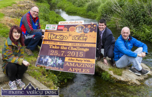 Going to the Country: An Riocht AC manager, Kate McSweeney pictured with Dan Casey, Castleisland RFC; Ivan Stuart, EBS, Castleisland and Bill Horgan Castleisland RFC at the announcement of the EBS sponsorship of HercOileán - The Island Warrion Challenge 2015 at An Riocht AC.  ©Photograph: John Reidy