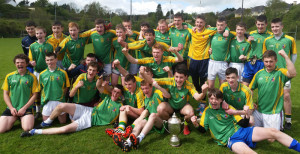 That Champion Feeling:  St. Patrick's Secondary School, Castleisland winners of the Kerry Post Primary Schools Joe O'Connor Cup defeating Pobal Scoil Sliabh Luachra Rathmore played at the Dr. Crokes pitch in Killarney. Photograph Courtesy of St. Patrick's