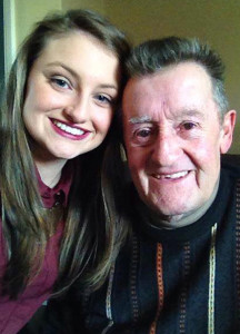 The late Paddy Reidy, Tullig, Castleisland pictured with his grand-daughter, Melissa O'Connell, Scartaglin.