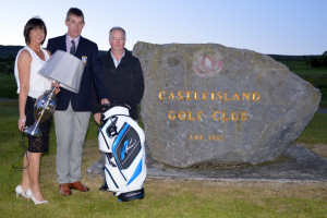 At the presentation of the President's Prize at Castleisland golf course on Sunday are: Liz Galwey, winner of the ladies competition; President Maurice O'Connor and Patrick White, winner of the men's competition.