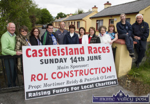 Members of the Castleisland Races Committee with local social club and senior citizens' committees at the announcement of the allocation of funding from the June 14th meeting. Included are from left: Donal Nelligan, Betty Riordan, Tara Howarth, Bill Reidy, Martin Conway, Eileen Mitchell, Kate O'Mahony, Peggy Reidy, Kathleen McAuliffe, Kay Reidy, Lacey Kerins and Charlie Farrelly. ©Photograph: John Reidy