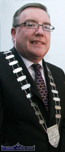 Been there.. Mayor of Kerry, Cllr. Bobby O'Connell has worn the ceremonial chain of office before when he was Mayor of Kerry in the 2009/10 period. ©Photograph: John Reidy