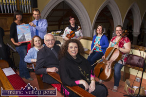 Planning a midsummer night's musical dream: Hospice foundation members: Liz Galwey and Jack Shanahan pictured with Ailish Walsh, Monsignor Dan O'Riordan and Bríd Mills with musicians: Lucy White, Kathleen Raymond O'Regan and Emma Shanahan at the launch of the Sunday, June 21st Castleisland Mid-summer Concert on Saturday evening. ©Photograph John Reidy