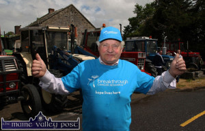 Organiser, Noel O'Connor pictured at the Half-Way Bar in Ballymacelligott as tractors began to gather for the 2014 Castleisland Vintage Run. Sunday's event is open to all kinds of road- worthy, vintage vehicles. ©Photograph: John Reidy
