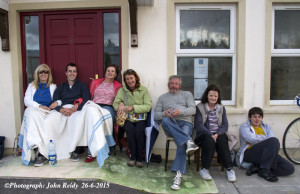 I'm Only Waitin' Til the Morning Comes: The lines of the Neil Young song would occur to one in this situation at Cahereen Heights this evening as Helen Lyons (left) is pictured with: Jason Kiernan, Dolores Shanahan-Lynch, Sheila Hanrahan, John Joe Horan, Josie O'Mahony and Jamie O'Rourke. ©Photograph: John Reidy  26-6-2015