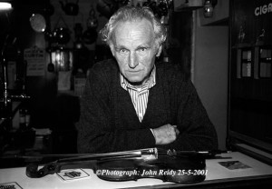 The late Brosna publican and fiddle player, Con Curtin in whose honour the village is hosting the Con Curtin Traditional Music Festival since 2001. ©Photograph: John Reidy 25-5-2001