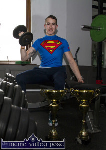 Double World Champion, Darren Moloney is back in the gym at An Ríocht after his return from the World Drug Free Power-Lifting Championships in Telford, Bermingham at the weekend. ©Photograph: John Reidy