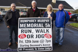 Organising committee members pictured at the launch of the 2015 and fourth annual Humphrey Murphy Memorial 5K Road Race and Fun Run included: Willie Reidy, Tom O'Sullivan, Tina Donovan, Run Castleisland and Pat Hartnett. ©Photograph: John Reidy