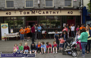 A Day to Remember: Longest Day participants' supporters of all ages gathering for the welcome home party as they await the return of their heroes this evening. ©Photograph: John Reidy