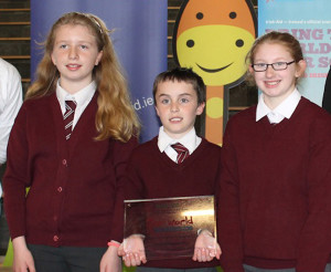 Heading to Dublin: Ellie Shanahan, David Roche and Hannah Murphy are part of the Lyreacrompane National School team of researchers heading to Dublin on June 16th.
