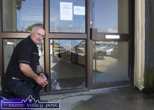 Chairman, Jimmy Roche pictured at the door of the mart which was hit by would-be-burglars in the early hours of this morning. ©Photograph: John Reidy 20-6-2015