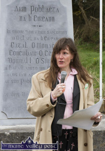 Jacqo Le Bourhis, Glenbeigh reading The Proclamation at the  Ballykissane Pier Tragedy 99th anniversary commemoration last April.  ©Photograph: John Reidy  4-4-2015