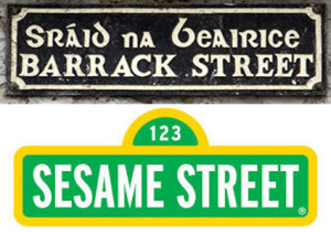 Barrack Street to Sesame Street. Mary Owens has made it from character populated street to another. ©