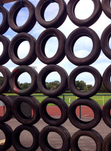 Tyred: Another of those harmless looking but challenging obstacles on the HercOileán course. ©Photograph: John Reidy