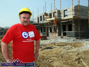 Campaigner, Joe Browne in front of the two 'Build4Life Houses' in Castleisland for which he appealed and got carpenters and plasterers to volunteer their services. ©Photograph: John Reidy  27/03/2007