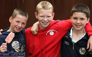 Now dance teacher and musician, Maurice O'Keeffe (right) pictured with Killian Fitzmaurice and Jack Scanlon at the 2007 Con Curtin Traditional Music Festival in Brosna. ©Photograph: John Reidy 24/06/2007