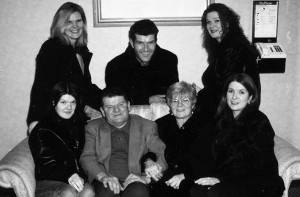 Mary Owens (back left) with parents Denny and Josephine O'Sullivan were: Denise and Helen front with: Mary, Ed and Jo at the River Island Hotel at a family reunion in 1998. ©Photograph: John Reidy 30-1-1998