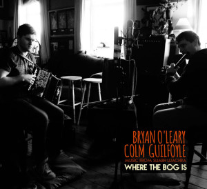 Bryan O'Leary and Colm Guilfoyle doing what comes naturally. They will launch their CD Where the Bog Is at the Heritage Centre in Scartaglin on Saturday night at 8-30pm.