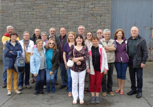 Visitors from Bannalec and Castleisland host family members pictured during the recent visit here. Photograph Courtesy of Castleisland Twinning Committee.