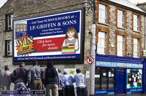 JP Griffin & Sons in Castleisland - wher you can win your school-books for the year ahead by just dropping in your list. ©www.mainevalleypost.com