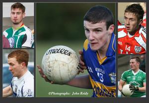 Kerry junior team squad members: Philip O'Connor, Cordal (centre) with clockwise from bottom left: Thomas Hickey, Desmonds; Eamon Kiely, Brosna; Adam Barry, Brosna and James Walsh, Knocknagoshel. ©Photographs:  John Reidy